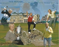 Jack Nicklaus Signed Photo Collage